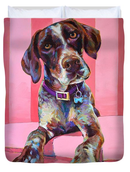Duvet Cover featuring the painting Big Hank by Robert Phelps