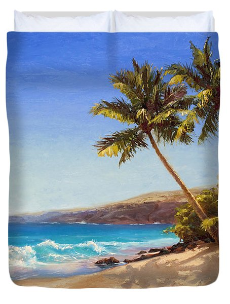 Hawaiian Beach Seascape - Big Island Getaway  Duvet Cover