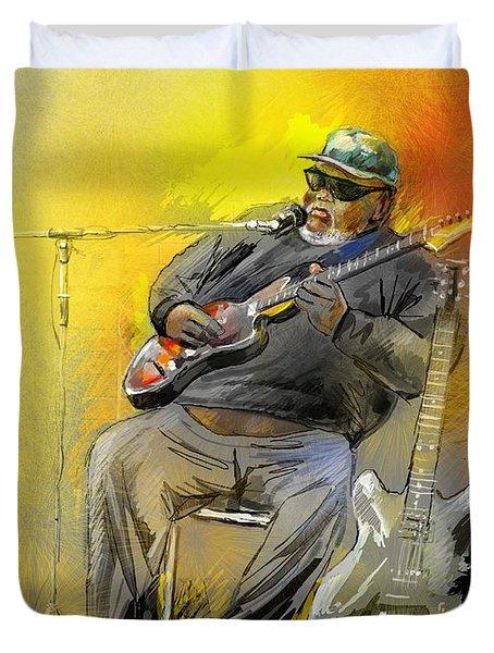 Big Jerry In Memphis Duvet Cover by Miki De Goodaboom