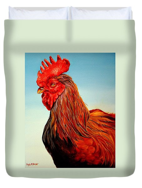 Duvet Cover featuring the painting Big John by Phyllis Beiser