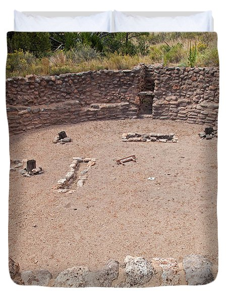 Big Kiva Bandelier National Monument Duvet Cover