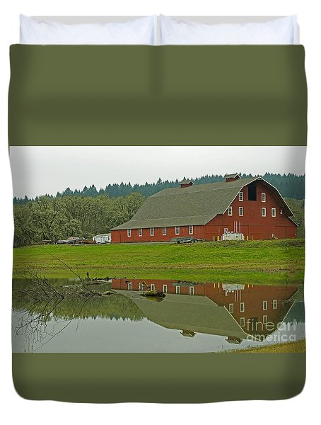Duvet Cover featuring the photograph Big Red by Nick  Boren