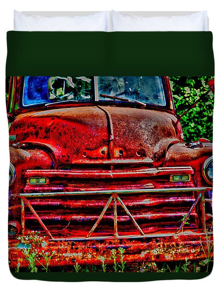 Big Red  Duvet Cover by Toni Hopper