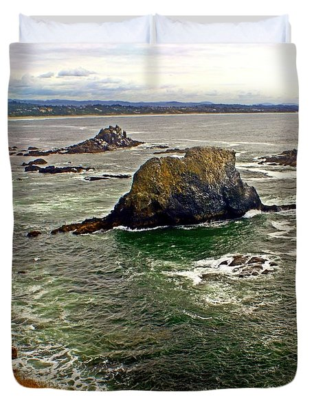 Big Rock Beach Duvet Cover by Marty Koch