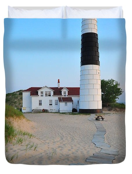 Big Sable Point Great Lakes Lighthouse Duvet Cover
