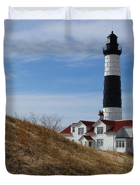 Duvet Cover featuring the photograph Big Sable by Randy Pollard