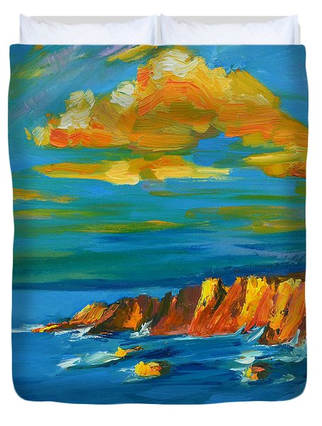 Big Sur At The West Coast Of California Duvet Cover