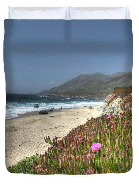 Big Sur Beach Duvet Cover by Jane Linders