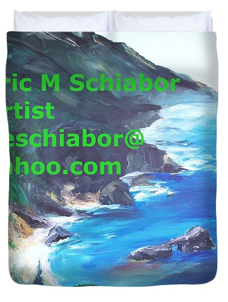Big Sur Califorina Duvet Cover by Eric  Schiabor