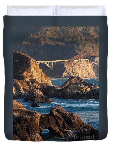 Big Sur Coastal Serenity Duvet Cover