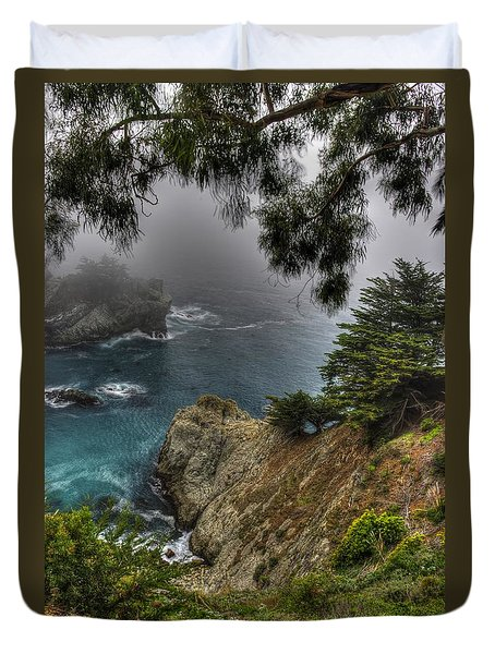 Big Sur Julia Pfeiffer State Park-1 Central California Coast Spring Early Afternoon Duvet Cover by Michael Mazaika