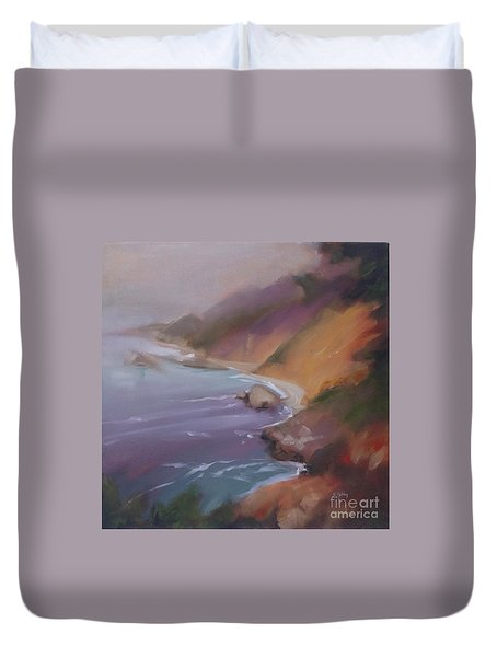 Big Sur Duvet Cover by Mary Hubley