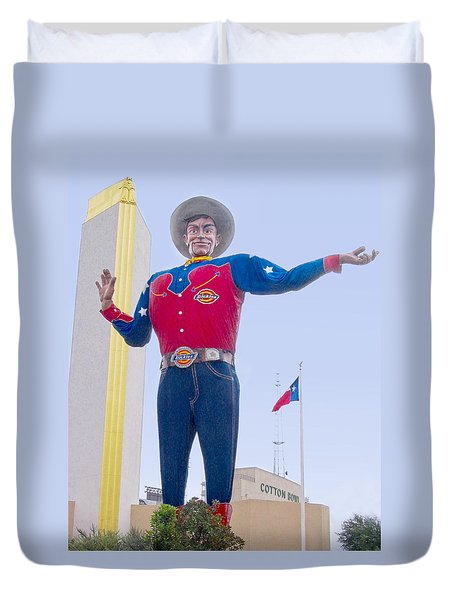 Big Tex And The Cotton Bowl  Duvet Cover