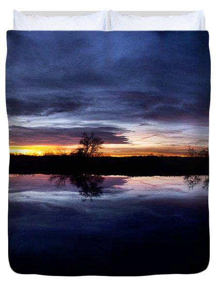 Duvet Cover featuring the photograph Big Thompson Pond Sunrise by Steven Reed