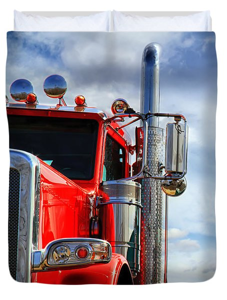 Big Trucks Duvet Cover by Bob Orsillo