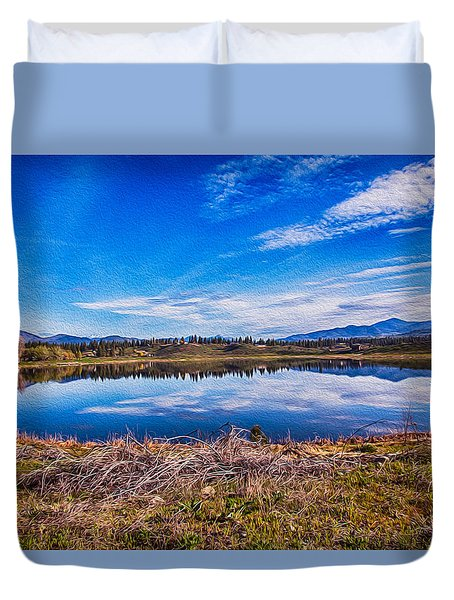 Big Twin Lake Duvet Cover by Omaste Witkowski