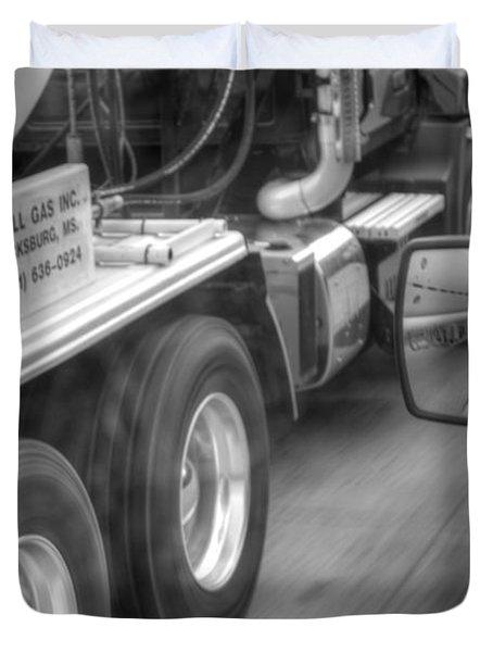 Big Wheels Keep Turning  Duvet Cover