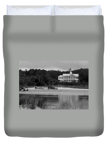 Big White House Duvet Cover