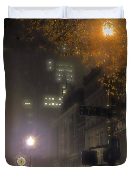 Duvet Cover featuring the photograph Bigga Mist by Robert McCubbin