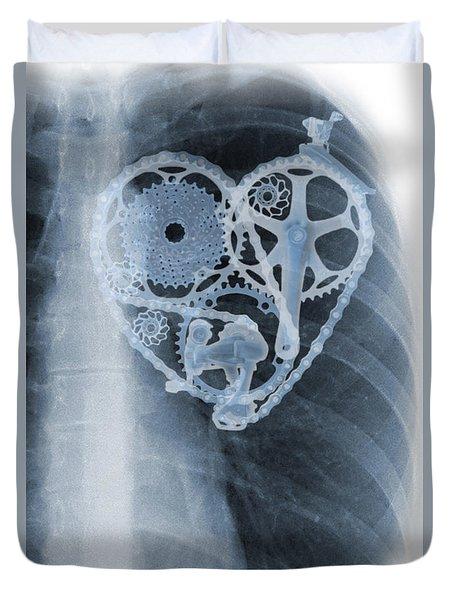 bike lover X-ray Duvet Cover