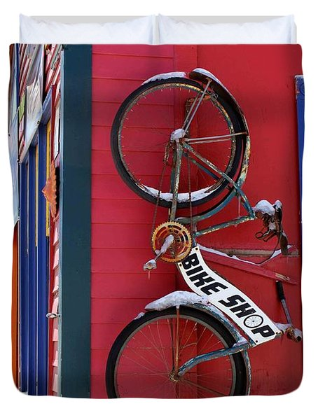 Bike Shop Duvet Cover by Fiona Kennard