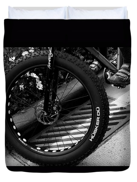 Bike Tire Duvet Cover