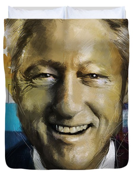 Bill Clinton Duvet Cover by Corporate Art Task Force