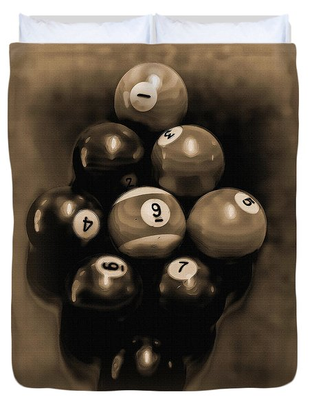 Billiards Art - Your Break - Bw Opal Duvet Cover