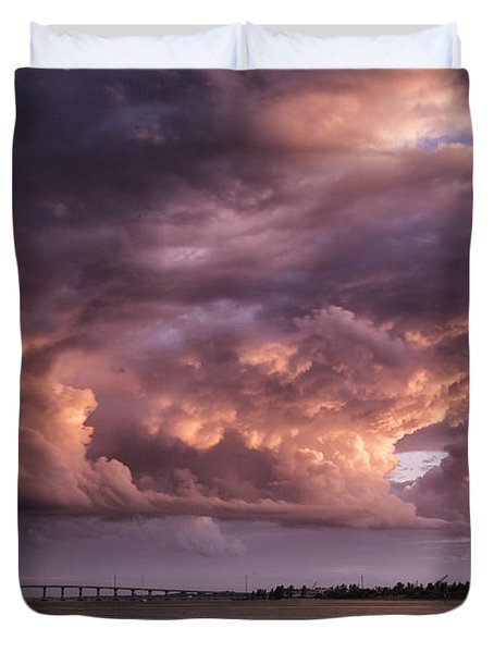 Billowing Clouds Duvet Cover by Fran Gallogly