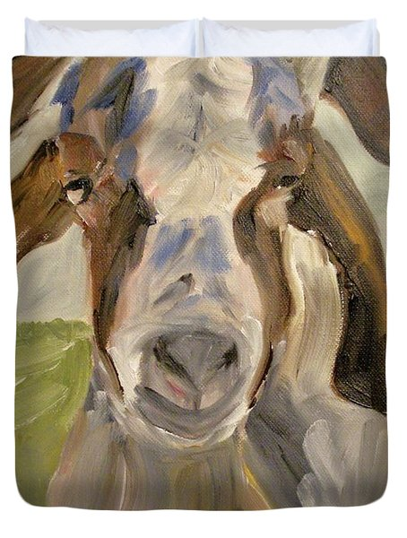 Duvet Cover featuring the painting Billy by Donna Tuten