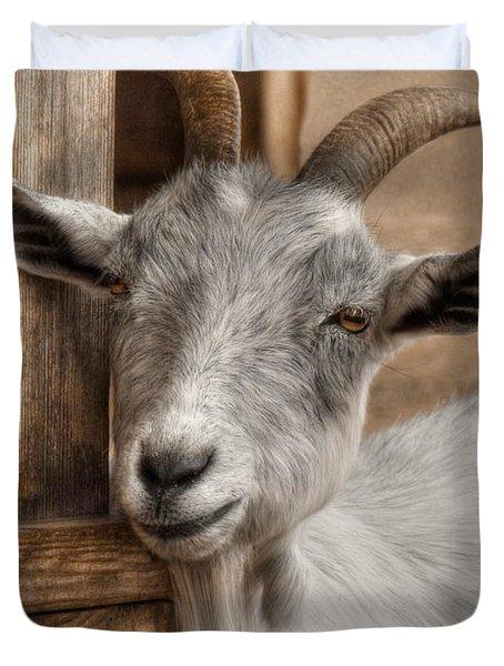 Billy Goat Duvet Cover by Lori Deiter