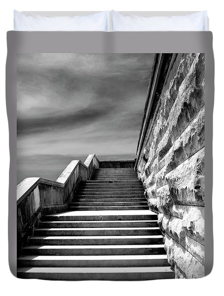 Biltmore Stairs Asheville Nc Duvet Cover by William Dey