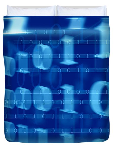 Binary Abstract Duvet Cover by Modern Art Prints