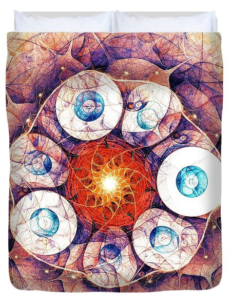 Binding Of Seven Duvet Cover by Anastasiya Malakhova