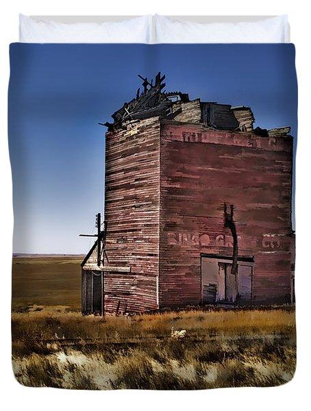 Duvet Cover featuring the painting Bingo Grain Co by Muhie Kanawati