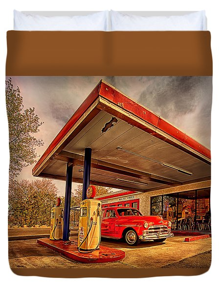 Bings Burger Station In Historic Old Town Cottonwood Arizona Duvet Cover by Priscilla Burgers