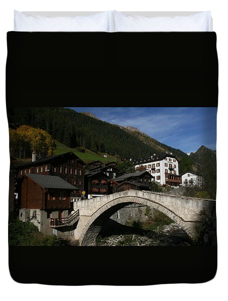 Duvet Cover featuring the photograph Binn by Travel Pics