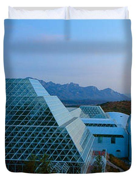 Biosphere 2 At Sunset, Arizona Duvet Cover