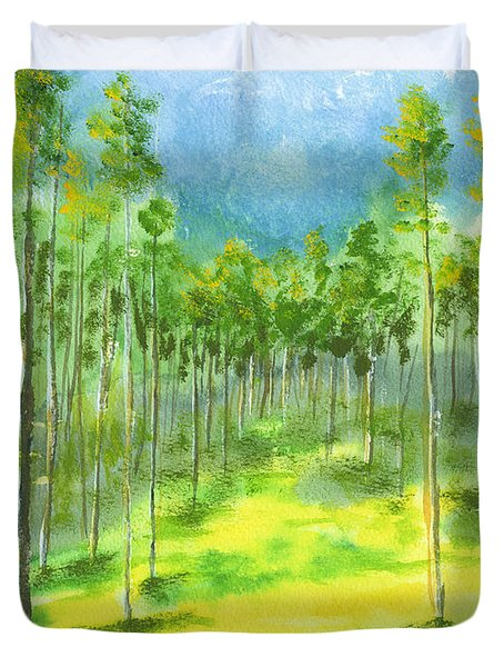 Birch Glen Duvet Cover