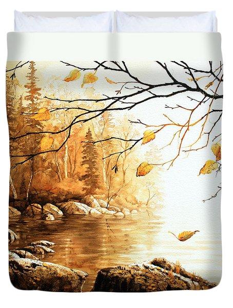 Birch Island Mist Duvet Cover by Hanne Lore Koehler