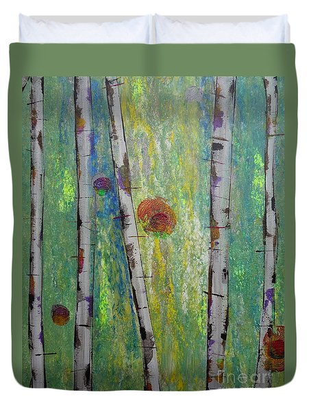 Birch - Lt. Green 5 Duvet Cover
