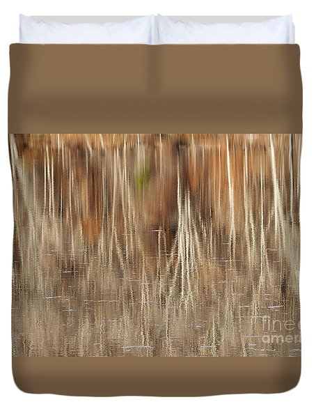 Birch Tree Reflections Duvet Cover by Alan L Graham