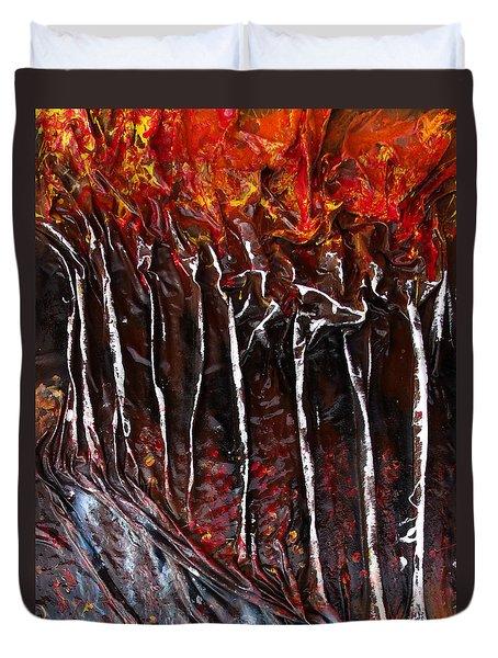 Birch Trees Duvet Cover