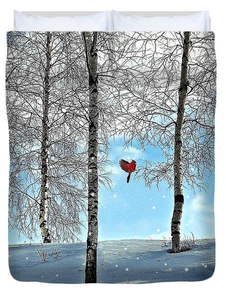 Birch Trees Duvet Cover by Liane Wright
