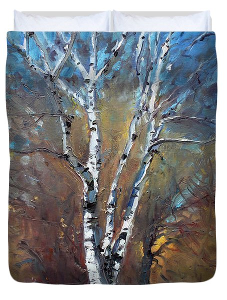 Birch Trees Duvet Cover by Ylli Haruni