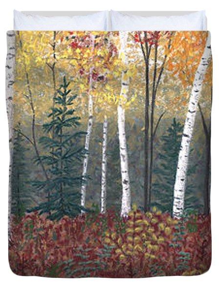 Birches Duvet Cover