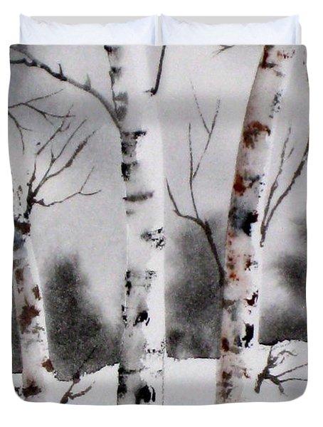 Birches Duvet Cover by Mohamed Hirji