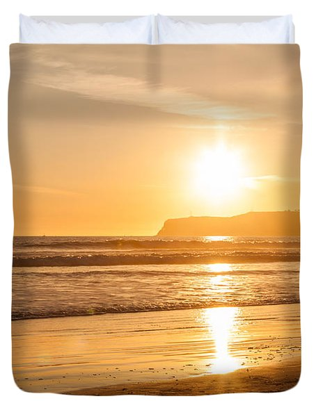 Bird And His Sunset Duvet Cover