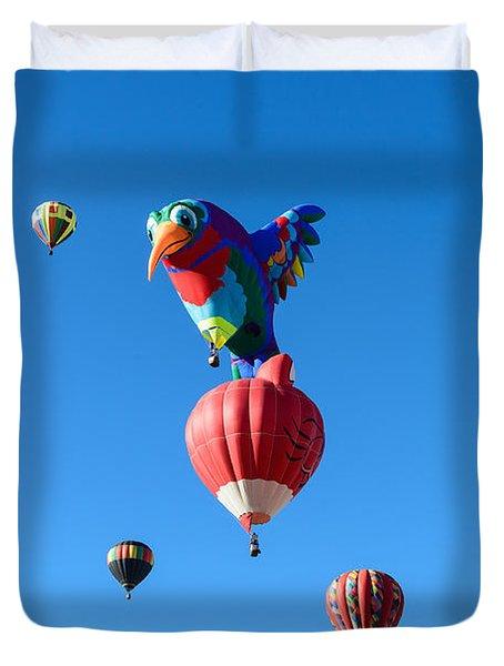Bird Balloon Duvet Cover
