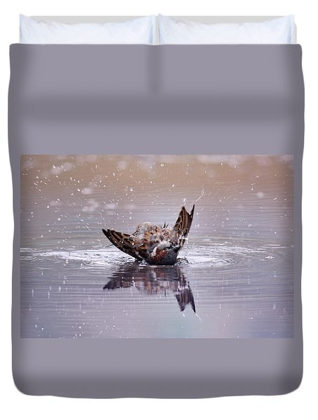 Bird Bath Duvet Cover